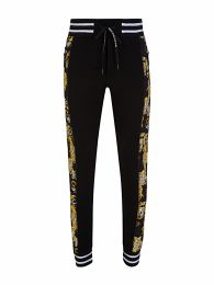 Black Baroque-Print Sweatpants