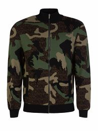 Green Camo Logo Zip-Through Sweatshirt