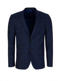 Blue Check Slim Fit Jacket