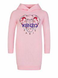 Pink 'Disco Jungle' Elephant Hoodie Dress