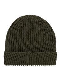 Grey Goggle Knit Beanie Hat