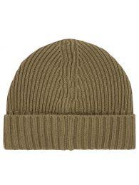 Junior Green Compass Patch Beanie Hat