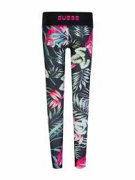 Black Floral Print Active Leggings