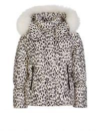 Ivory Animal-Print Puffer Jacket