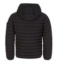 Junior Black Genuine Down Hooded Jacket
