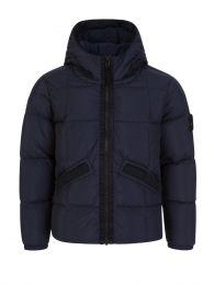 Junior Navy Real Down Jacket