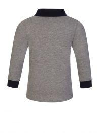 Grey Long-Sleeve Baby Polo Shirt