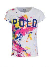 Kids White Paint Splatter T-Shirt