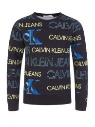 Jeans Kids Black Organic Logo Sweatshirt