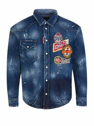 Kids Blue Multi-Patch Denim Shirt