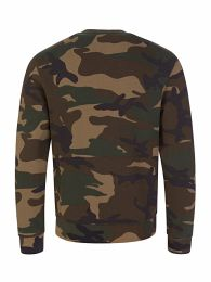 Kids Green Relaxed-Fit Camo-Print ICON Sweatshirt