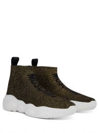 Gold Low-Top Sock Trainers