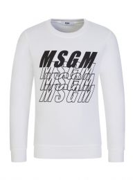 Kids White Multi-Logo Sweatshirt