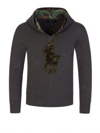 Kids Grey Big Pony Knitted Hoodie
