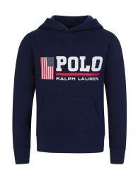 Junior Navy Polo Sport Fleece Hoodie