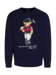 Kids Navy Graphic Bear Fleece Jumper