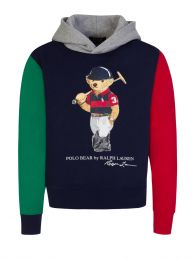 Kids Navy Polo Bear Fleece Hoodie