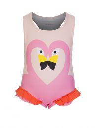 Pink Flamingo Baby Swimsuit