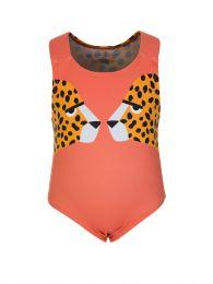 Orange Cheetah Swimsuit