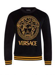 Black Velvet Medusa Head Sweatshirt