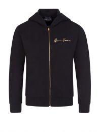 Black Junior Signature Zip-Through Jacket