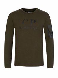 Green Chest Logo Print T-Shirt