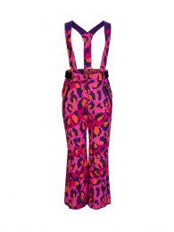 Pink Leopard Print Salopettes