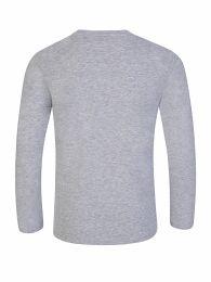 Grey Long-Sleeve 'Disco Jungle' Elephant Logo T-Shirt