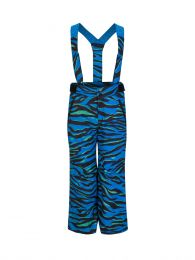 Blue Tiger Print Salopettes