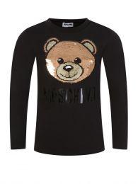 Kids Black Long-Sleeve Maxi T-Shirt
