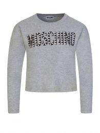 Kids Grey Crystal Logo T-Shirt