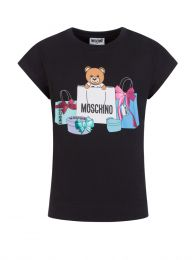 Kids Black Gift Bear T-Shirt