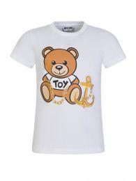 Kids White Bear & Anchor T-Shirt