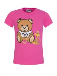 Kids Pink Bear & Anchor T-Shirt
