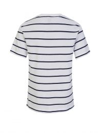 Kids White Stripe T-Shirt