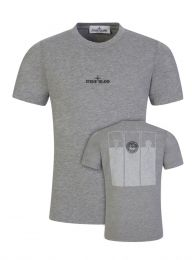 Junior Grey Chest Logo T-Shirt