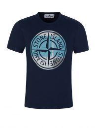 Junior Navy Blue Compass Logo T-Shirt