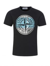 Junior Black Compass Logo T-Shirt