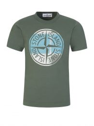 Junior Green Compass Print T-Shirt