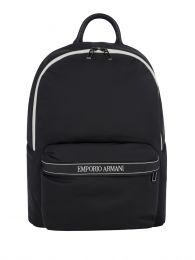 Black Tape Nylon Backpack