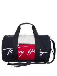 Navy Signature Colour-Blocked Duffle Bag