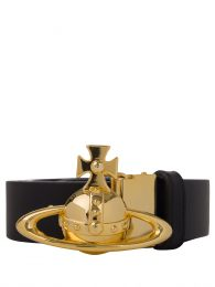 Black Orb Buckle Gold Belt