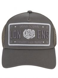 Grey 'Born Iconic' Plate Logo Cap