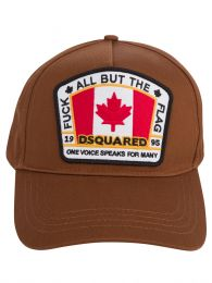 Brown Canadian Flag Cap