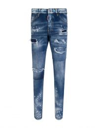 Dark Blue Ripped Wash Cool Guy Jeans