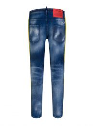 Blue Medium 2 Wash Skater Jeans