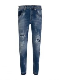 Blue Extreme Distressed Jeans