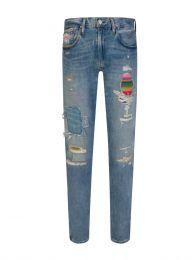 Blue Rip + Repair Jeans