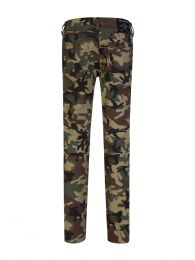 Green Relaxed-Skinny Moto Camo Rocco Jeans