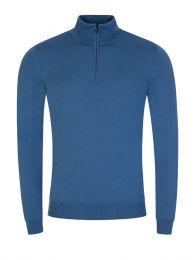 Menswear Blue 1/4-Zip San Gottardo2 Sweatshirt